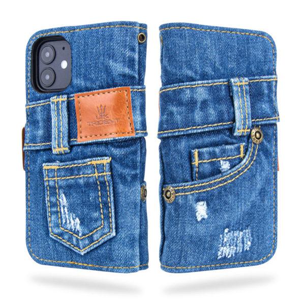UK TridentデニムiPhone 12 mini手帳型